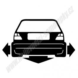 Samolepka VW Golf II Low