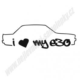 Samolepka I Love my BMW e30