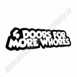 Samolepka 4Doors for more whores II
