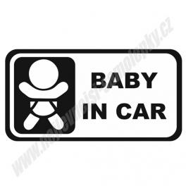Samolepka Baby in Car