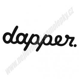 Samolepka Dapper