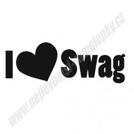 Samolepka I love Swag