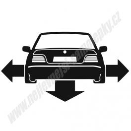 Samolepka BMW 3 e36 Low and slow