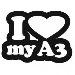 Samolepka I love my A3