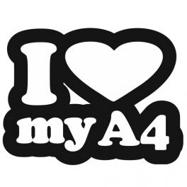 Samolepka I love my A4