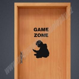 Samolepka na Dvěře - Game Zone