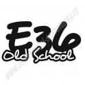 Samolepka BMW e36 Oldschool