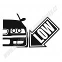 Samolepka BMW e36 Lowed