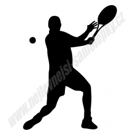 Samolepka Tenista