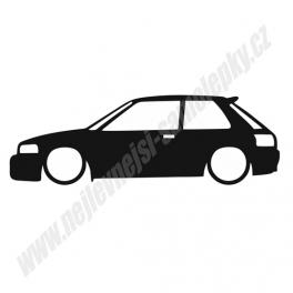 Samolepka Mazda 323 BG Low