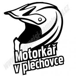 Samolepka Motorkář v plechovce