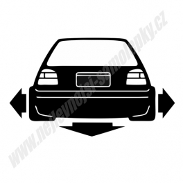 Samolepka VW Golf III Low