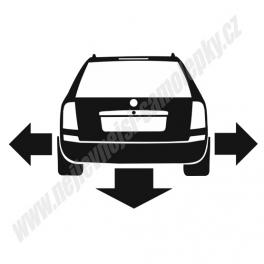 Samolepka Škoda Octavia Combi Low