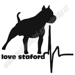 Samolepka Love Staford