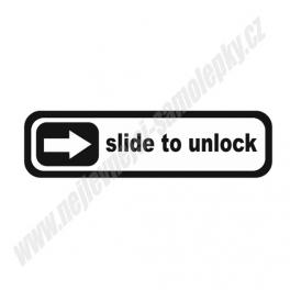 Samolepka Apple Slide to unlock