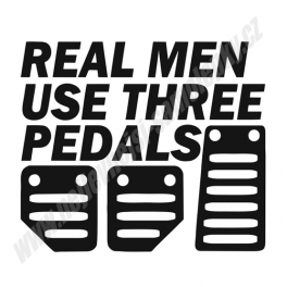 Samolepka Real Men use 3 Pedals