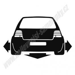 Samolepka VW Golf IV Low