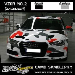 Camo samolepky - 2barvy: ČERNÁ/ŠEDÁ SV
