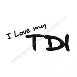 Samolepka I Love my TDI