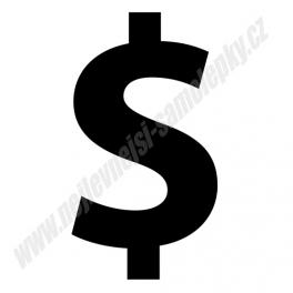 Samolepka Dolar